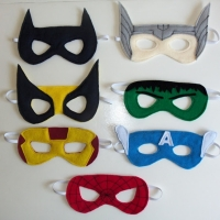 DIY Superhero Party Masks